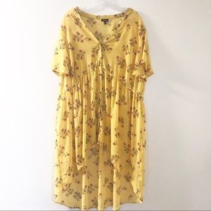 Torrid 3 3X Dress or Tunic Top Yellow Floral